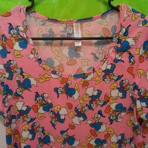 Lularoe Disney Short Sleeve Tunic Shirt